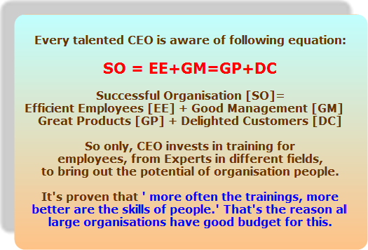Every talented CEO invests in enhancing skills of employees...