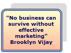 No business can survive without effective Marketing
